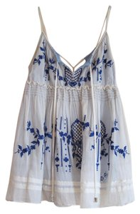 Other Embroidered Crystal Silk Cotton Top