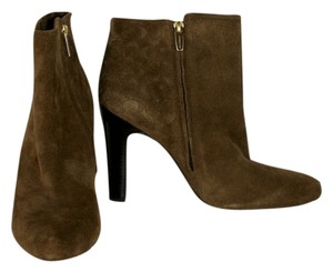Coach Suede Leather Ankle Brown Boots