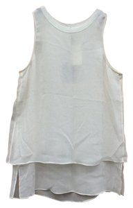 Rag & Bone Silk Flowy Cutaway Feminine Top White