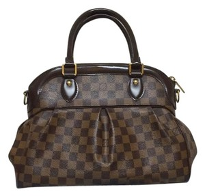 Louis Vuitton Coated Canvas Damier Canvas Speedy Trevi Pm Shoulder Bag