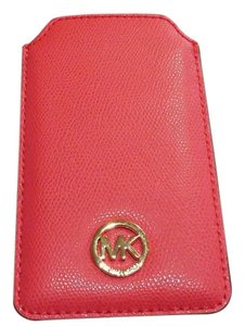 Michael Kors Michael Kors Fulton Pebbled Leather Phone Case Fits iPhone 6 NWT Watermelon