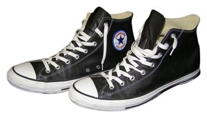 Converse Size 13 Leather All Stars Chuck Taylor High Tops Black Athletic