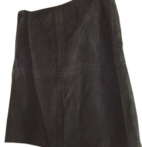 Ann Taylor Skirt Navy blue Suede