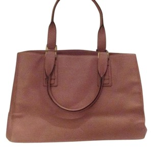 Ellen Tracy Leather Satchel in Pink