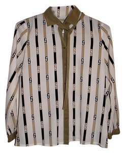 Other Fendi Like Cute Career 70s 60s Button Down Shirt Brown