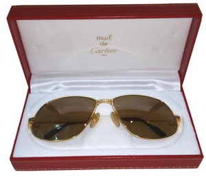 Cartier CARTIER Vintage Santos Sunglasses Rare Style with Red Case
