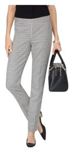 Talbots Straight Pants Black and White