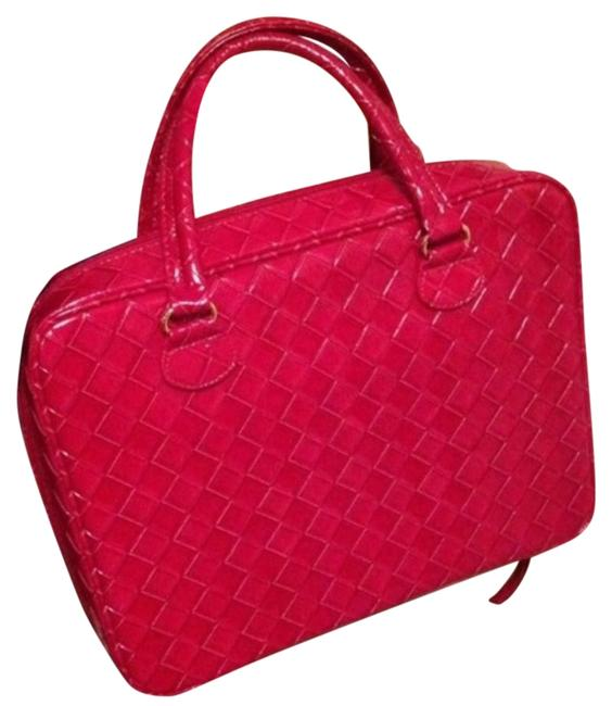 Item - Red Carry All Soft Sided Case Cosmetic Bag