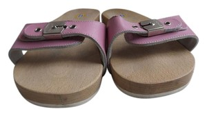 Dr. Scholl's Wood Exercise Pink Sandals
