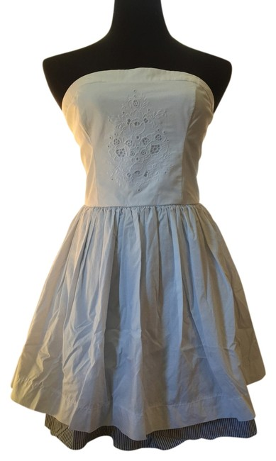 Abercrombie & Fitch short dress White, blue Party Full Skirt on Tradesy