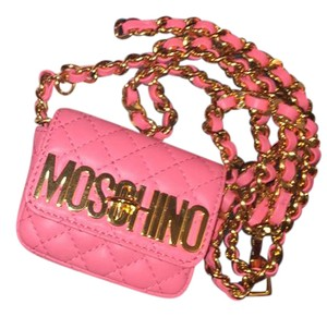 Moschino Mini Waist Gold Cross Body Bag