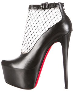 Christian Louboutin Hidden Platform Lace Illusion Black Boots