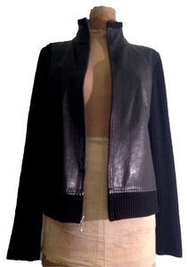 Banana Republic Knit Leather Leather Jacket