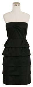 J.Crew Strapless Lbd Little Ruffled Dress