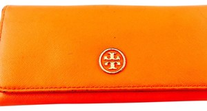 Tory Burch Tory Burch Robinson Orange Multi Pink Overlap Wallet