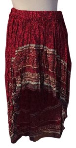 Free People Skirt Multicolored red