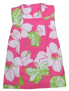 Lilly Pulitzer short dress Pink/green on Tradesy