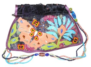 Other Silk Beaded Butterfly Floral Baguette