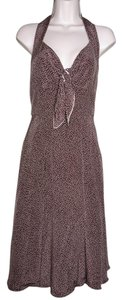Kay Unger short dress Brown Sleeveless Halter Silk Polka Dot on Tradesy