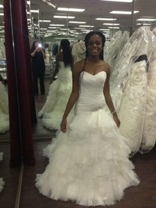 Mori Lee Ivory Organza and Tulle 1856 Sexy Wedding Dress Size 4 (S)