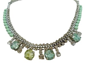 Bar III Bar III Gold-Tone Mint Stone and Crystal Frontal Necklace