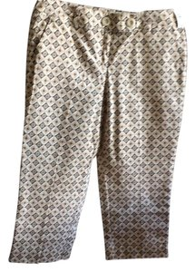 Talbots Capris Tan with shades of brown in print