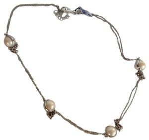 INC International Concepts long silver knotted necklace