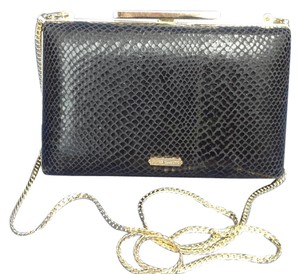Vince Camuto Plastic Black and gold tone Clutch