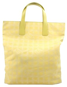 Chanel Shoulder Tote in YEllow