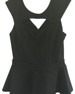 Arden B. Peplum Top Black