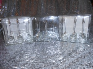 Crystal Place Card Holders Set Of 18