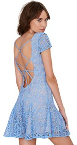 The Jetset Diaries short dress Blue Lace Nasty Gal Mini on Tradesy
