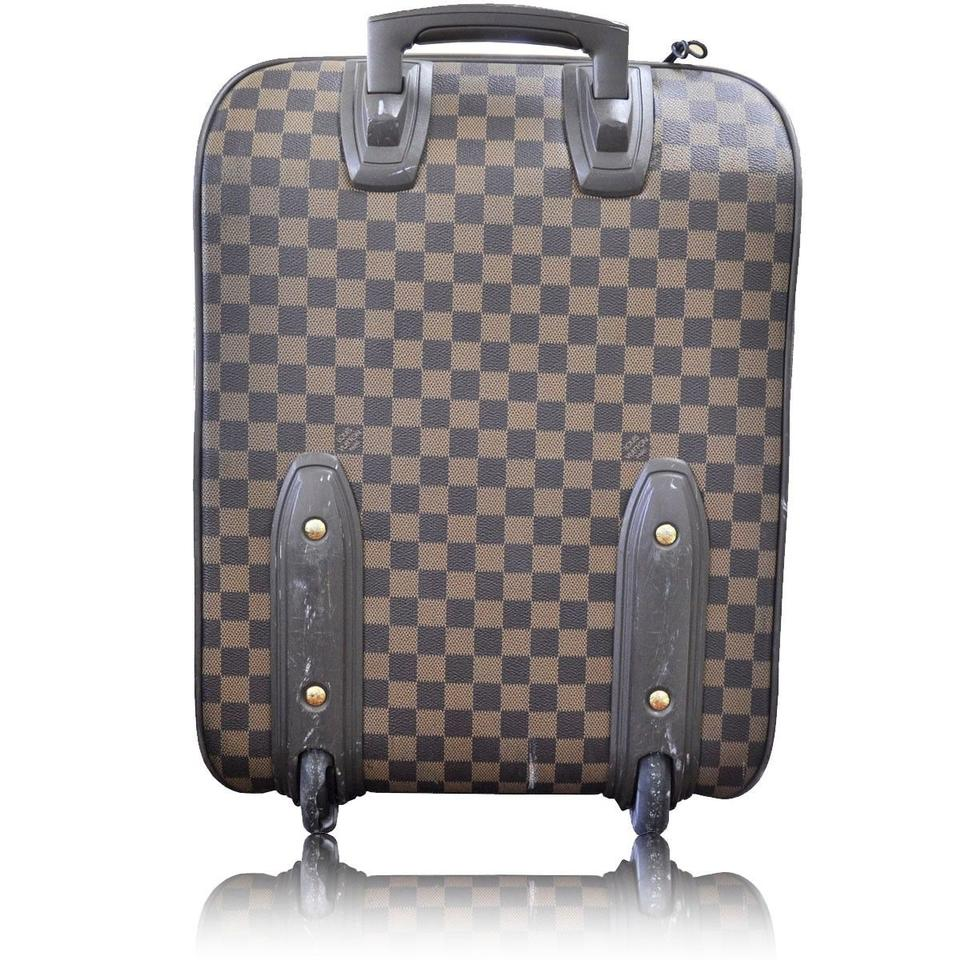 20b5c0ce80b8 Louis Vuitton Pegase 45 Damier Ebene Rolling Carry-on Suitcase Brown Canvas  Weekend Travel Bag - Tradesy