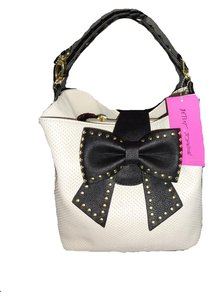 Betsey Johnson Bucket Cross Body Satchel in bone