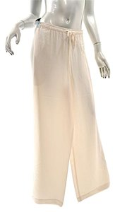 Eskandar Silk Drawstring Elastic Weight Relaxed Pants Ivory
