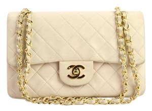 Chanel Cc Logo Baby Gold Flap Shoulder Bag