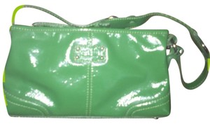 Saks Fifth Avenue Green Messenger Bag