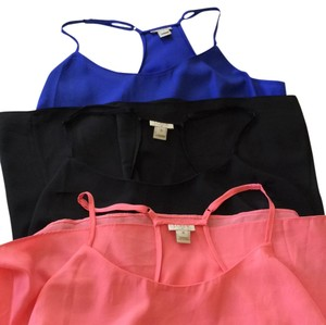 J.Crew Top Coral, black, blue