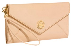 Tory Burch Wristlet in dark sahara flesh tone pale pink