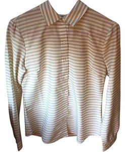 Banana Republic Top Beige and White
