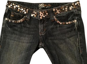 Miss Me Embroidered Embellished Straight Leg Jeans-Distressed