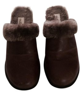 Matisse Wood Soles Leather Boho Trendy Chic Brown Mules