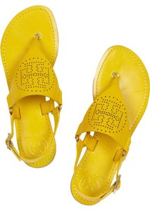 Tory Burch Yellow Chartreuse Sandals