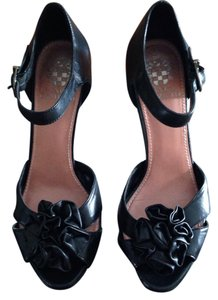 Vince Camuto Stiletto Mary Jane Leather Black Platforms