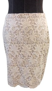 Ann Taylor Lace Skirt Nude / white