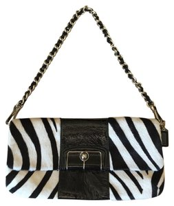 Coach Haircalf Zebra Convertible Shoulder Bag
