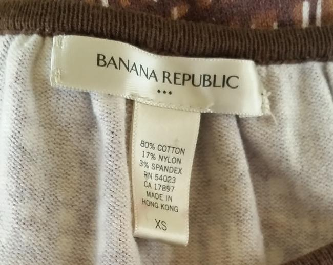 Banana Republic Balloon Sleeves Jersey Top Brown