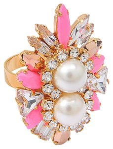 Shourouk Shourouk Lady Woolit Pink Ring in Pink and Gold