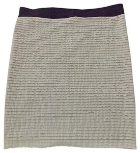 BCBGMAXAZRIA Tieredruffles Medium Bodycon Mini Skirt White