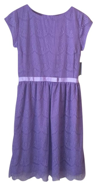 Item - Lilac Knee Length Short Casual Dress Size 6 (S)